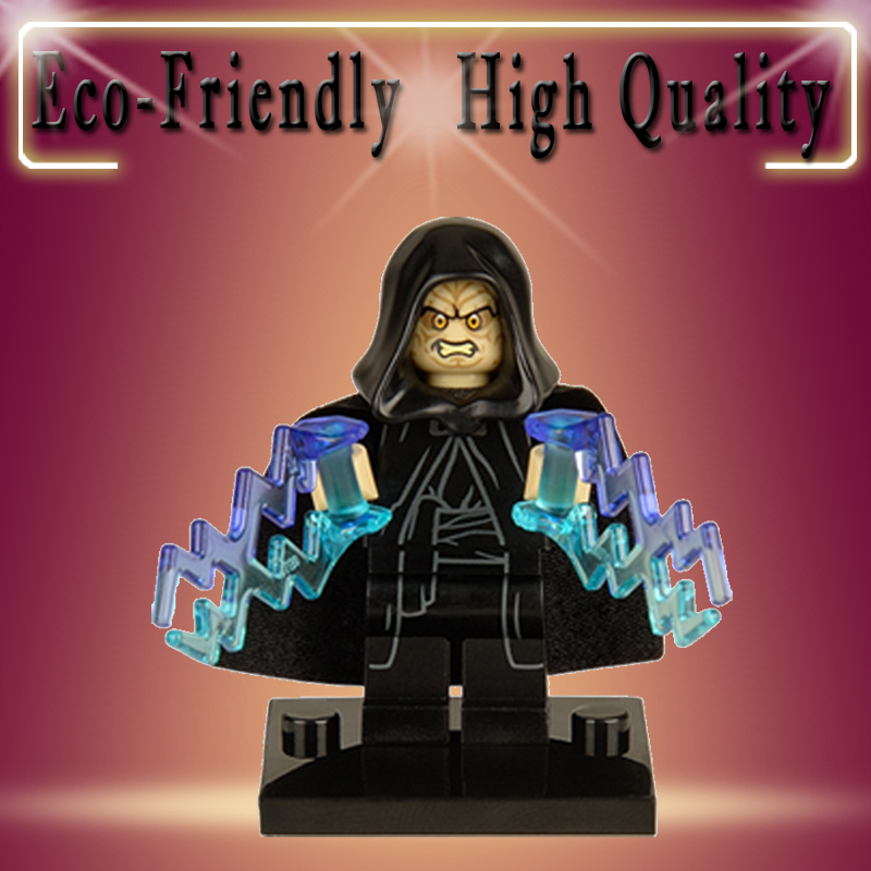 Star Wars Legoed EMPEROR PALPATINE With Double Thunder Minifigured Assemble Minifig DIY Building Blocks Kids Toys XH205