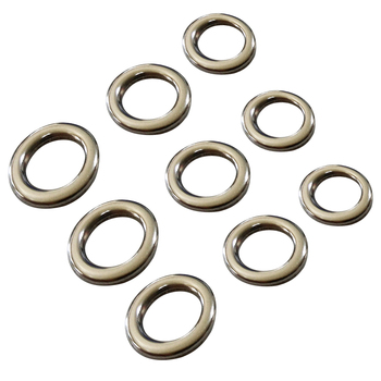 fishing solid ring jigging fishing accessories the best 304 stainless steel very large test