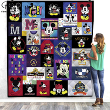 Cute Cartoon Mouse funny character 3D Quilt Blanket For Kids Adult Bedding Throw Soft Warm With Cotton style-2