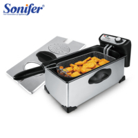 2200W Deep Fryer Commercial Fryer Gas Frying Machine Fried Chicken Multifunctional Household French Fries Machine 220V Sonifer