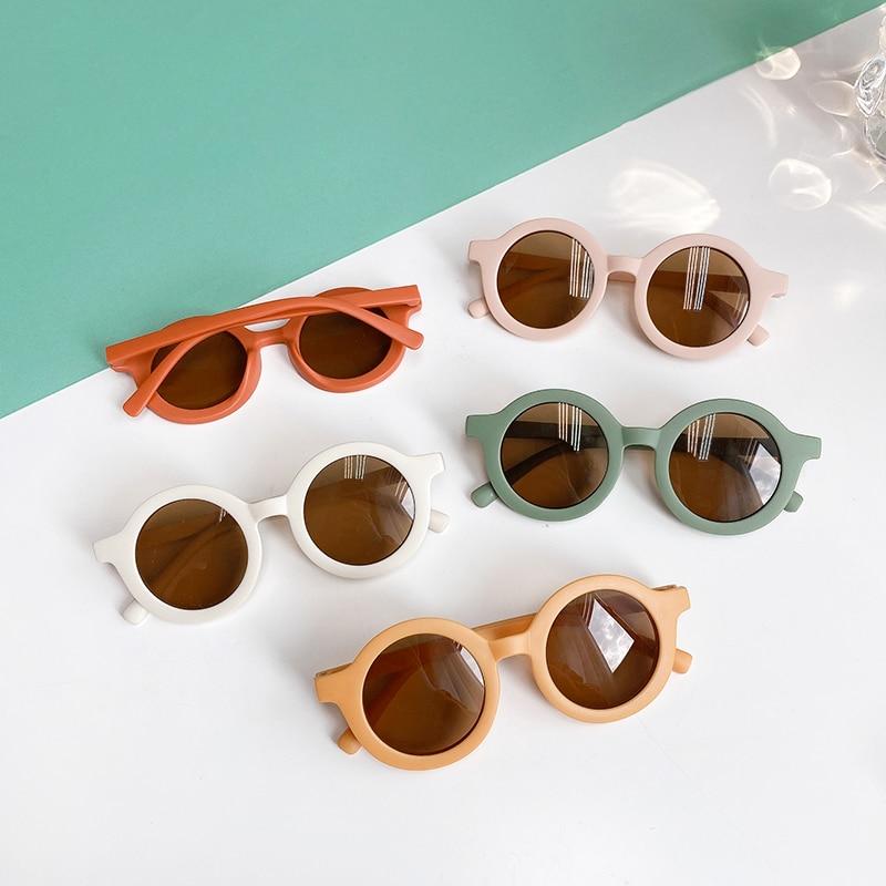 2021 Boy Girl Cute Cartoon Bear Shape Fashion Round Sunglasses Children Vintage Sunglasses UV Protection Classic Kids Eyewear|Girl's Sunglasses| - AliExpress
