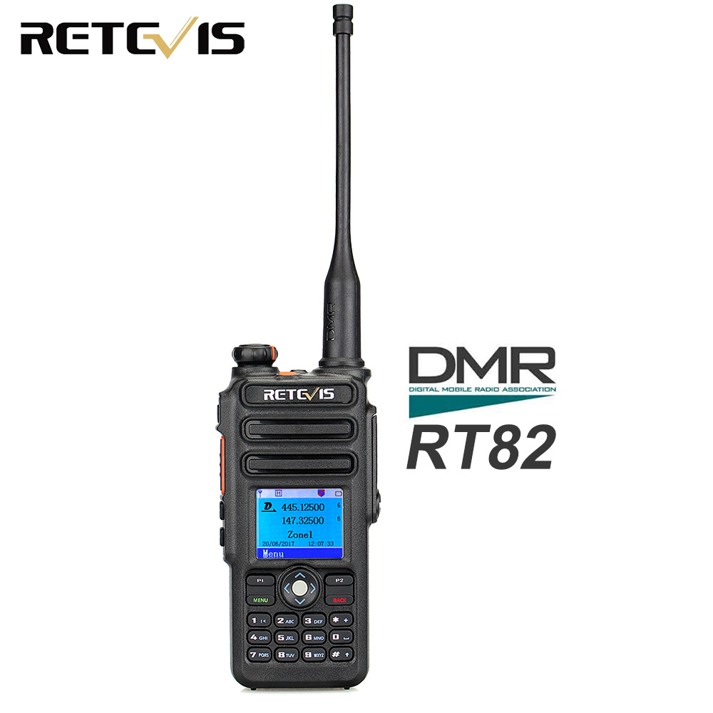 Dual Band DMR Retevis RT82 GPS Digital Radio Walkie Talkie 5W VHF UHF DMR IP67 Waterproof Ham Amateur Radio Hf Transceiver+Cable