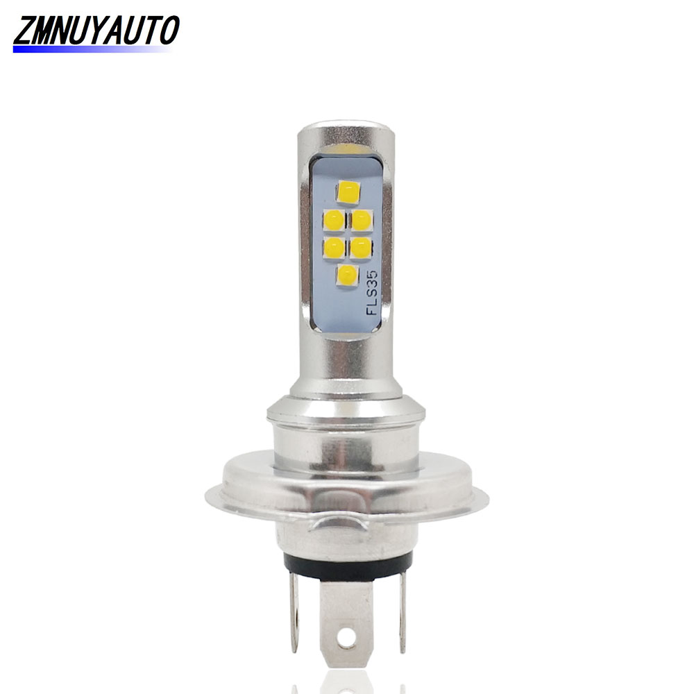 H4 Moto Head Lamp Motorcycle Bulb HS1 Led Headlight Bulbs Golden Yellow 1200LM Hi Lo Lamp Scooter ATV Accessories Fog Lights For