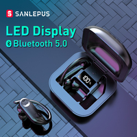 SANLEPUS LED Display Bluetooth Earphone 5.0 TWS True Wireless Earbuds Stereo Headphones for Xiaomi Phone Gaming Sport Headset