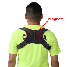 Magnetic Therapy Back Brace Posture Corrector for Men and Women Under Clothes Back Pain Relife Shoulder Support Belt W1003SHC