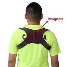 Manyetik terapi sırt postür düzeltici erkekler kadınlar çocuklar için giysiler altında sırt ağrısı kabartma omuz destek kemeri W1003SHF