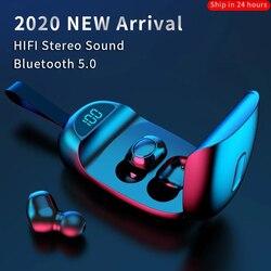 JS05 TWS casque sans fil Bluetooth V5.0 écouteurs sport écouteurs HD appel bruit annuler écran à LED étanche casque