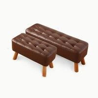Imitation leather shoe stool simple modern clothing store entrance sofa stool footstool bed stool