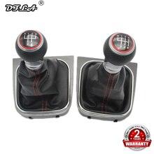 Para VW Golf 5 MK5 R32 GTI GTD 2004, 2005, 2006, 2007, 2008, 2009 nuevo 5/6 velocidad palanca de nivel de mando con Bota de cuero