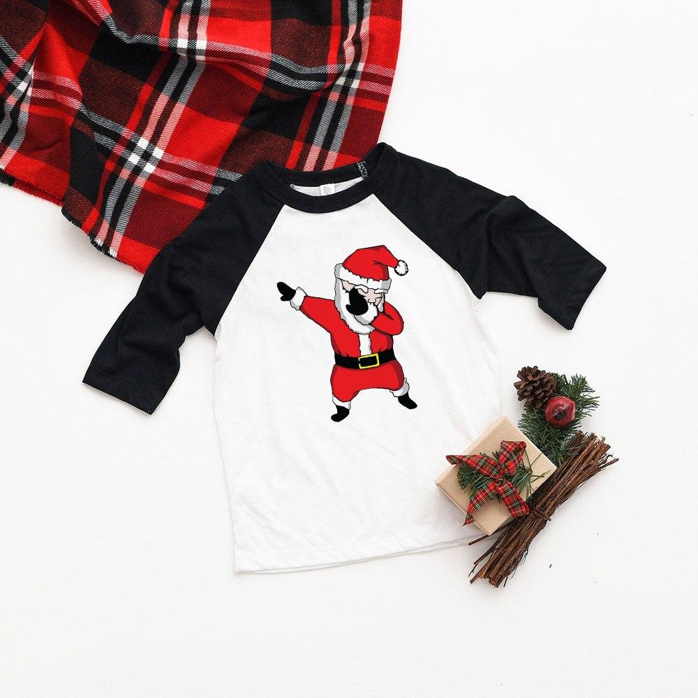 Kids Girls Boys Dabbing Christmas T-shirts Clothes Baby Santa Claus T Shirt Children Clothing Tops Tshirt T-shirt Baseball Tees 12