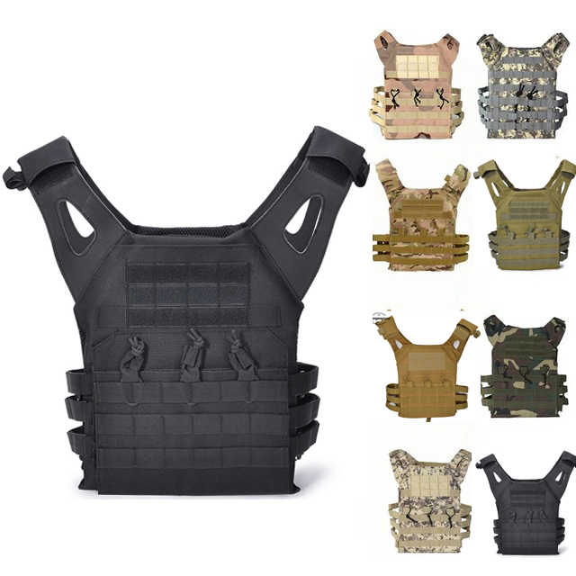 HGWZLQ Chasse Tactical Accessoris Protection Corporelle JPC Plate Carrier Vest Ammo Magazine Coffre Rig Airsoft Mat/ériel De Paintball Chargement des Gilets Entra/înement