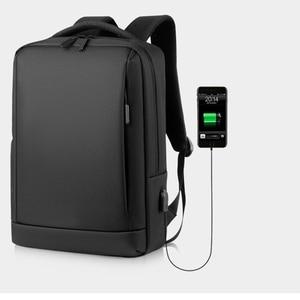 Мужской рюкзак из ткани Оксфорд, с защитой от кражи, для ноутбука 14 дюймов, для школы, путешествий, с USB-зарядкой