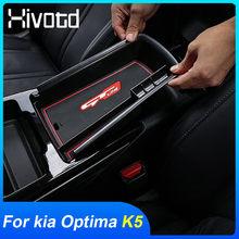 Hivotd-caja de almacenamiento para Reposabrazos de coche, organizador central de Control, bandejas de plástico ABS, accesorios interiores, para Kia Optima K5 2021 2020