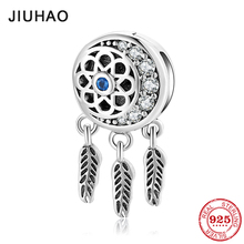 High quality 925 Sterling Silver Charms Constellation Dream Catcher  metal BeadsClip Fit Reflexions Charm Bracelet Jewelry best quality luxuxious and nice silver jewelry gift noble purple silver charm series 925 real silver snowflake charms bracelet