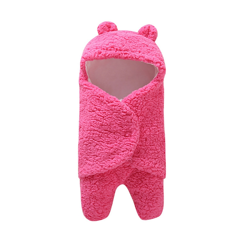 Newborn Swaddling Wrap Stroller Accessories Sleepsacks Baby Sleeping Bag Soft Warm Baby Blanket Cotton Solid