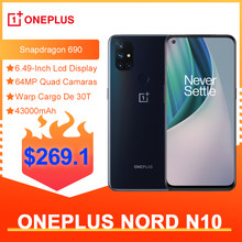 OnePlus Nord N10 5G Globale Version 6GB 128GB Snapdragon 690 Smartphone 90Hz Display 64MP Quad Cams warp 30T NFC
