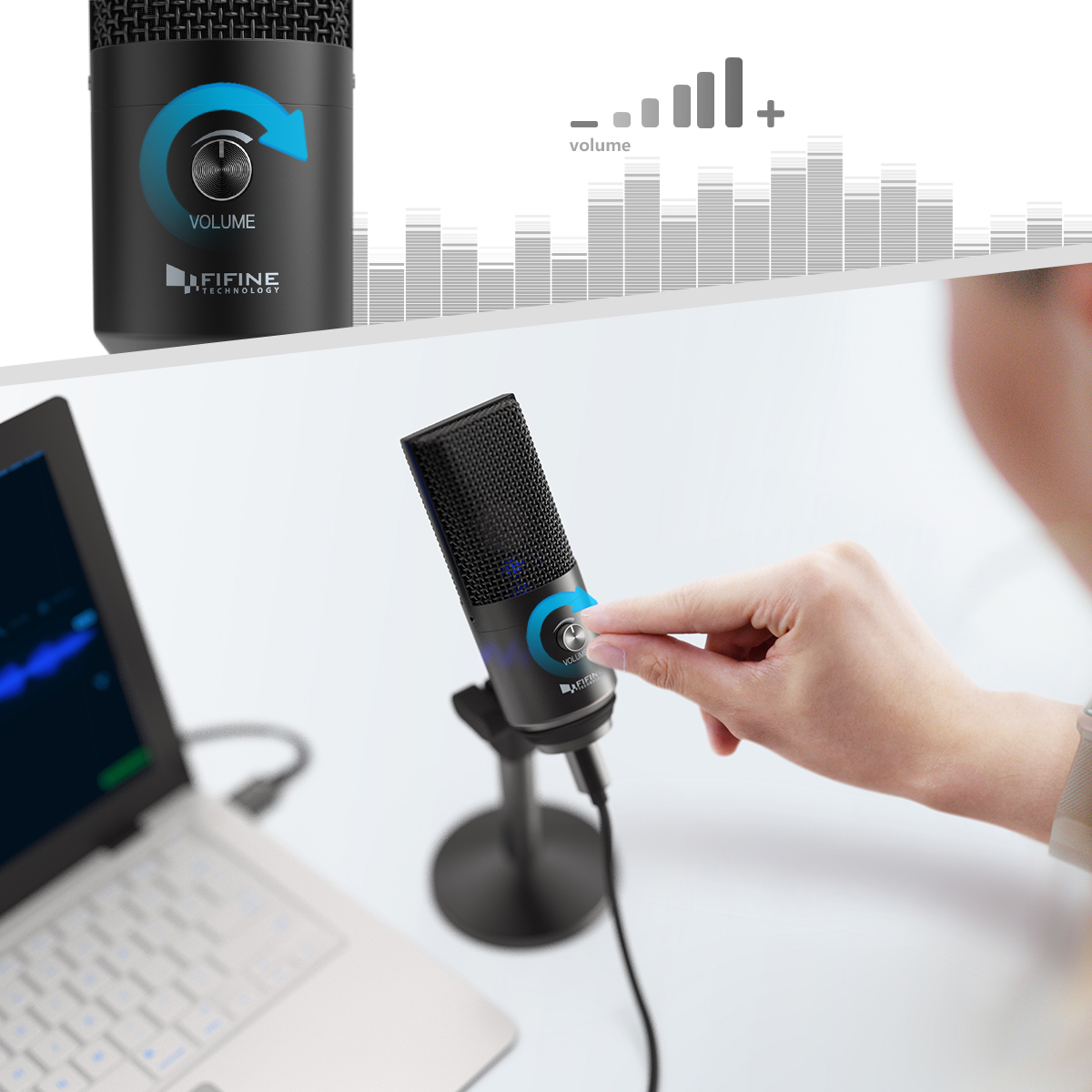FIFINE Uni-Directional USB Microphone 3
