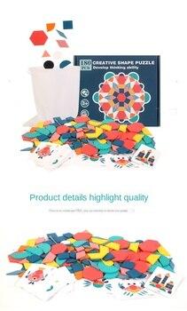 ילדים חדשים עץ 3D פאזל חכם לוח תינוק מונטסורי חינוכי למידה צעצועים לילדים צורה גיאומטרית חידות צעצוע 20