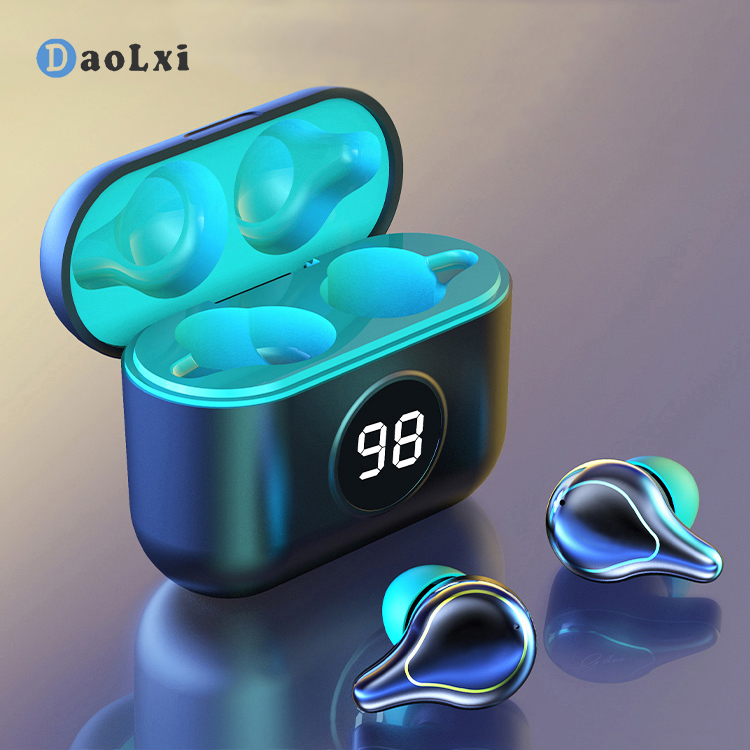 DaoLXI Wireless Bluetooth Headphones Mini In-ear Earbuds Noise Reduction Sports <font><b>0</b></font> Delay Late Gaming Headset Charging Box image