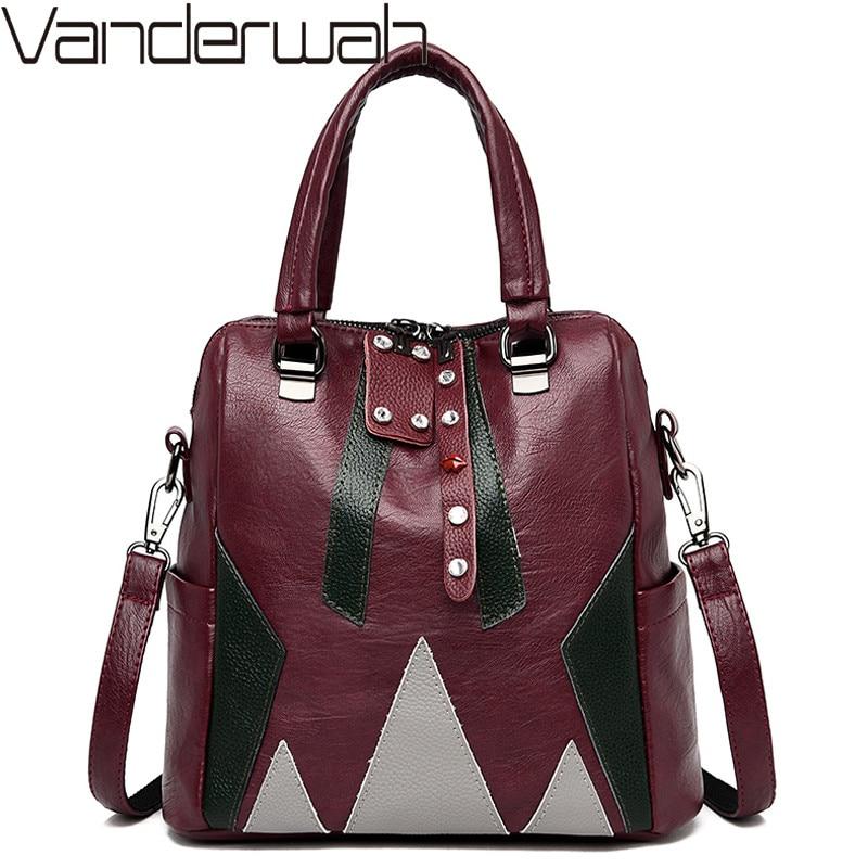 Women Genuine Leather Backpacks Female Shoulder Bags Sac Casual Travel Ladies Bagpack Mochilas School Bags For Teenage Girls