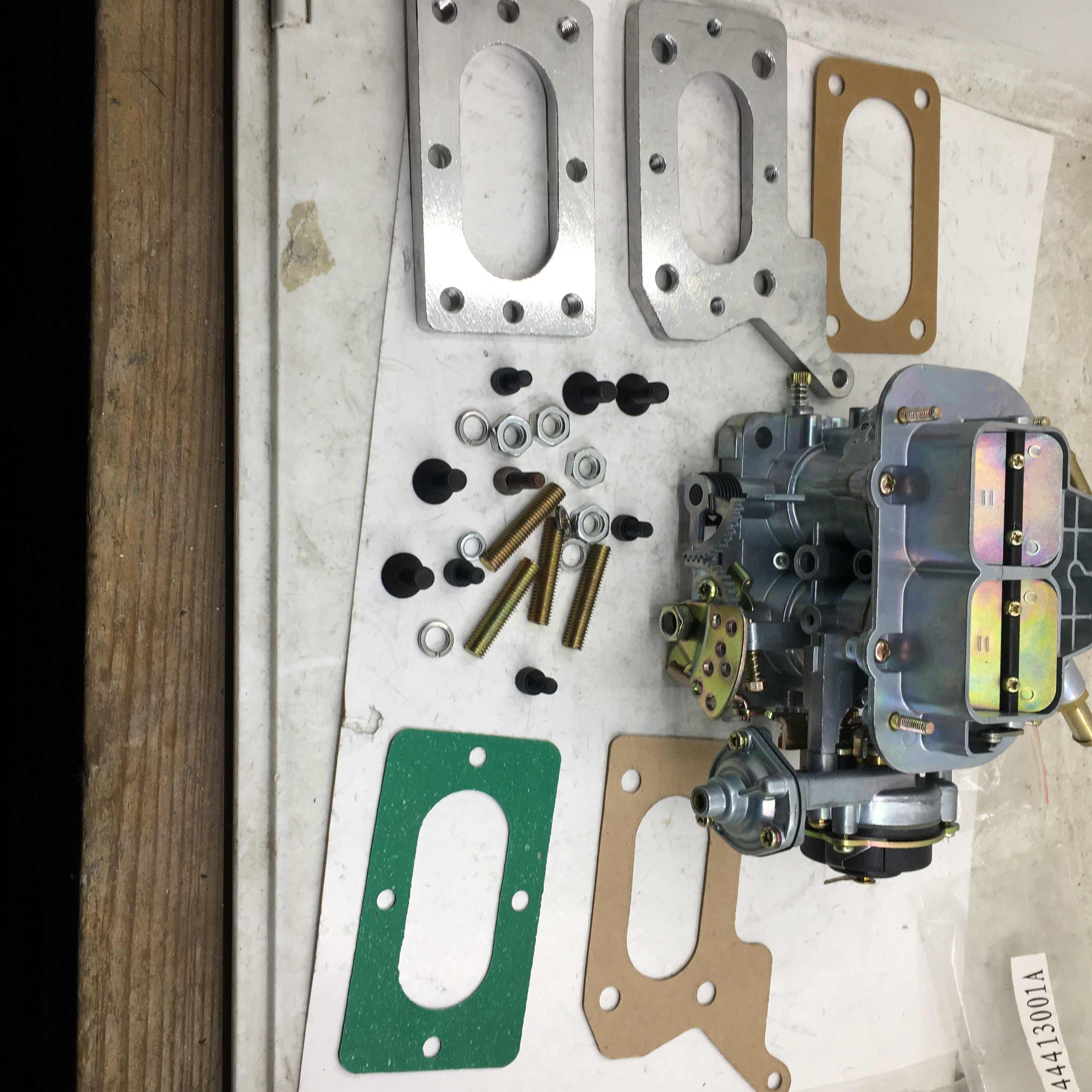 Details about  /Weber Carburetor Manifold Adapter Mazda B2600 Mitsubishi Montero CARB 38//38 DGES