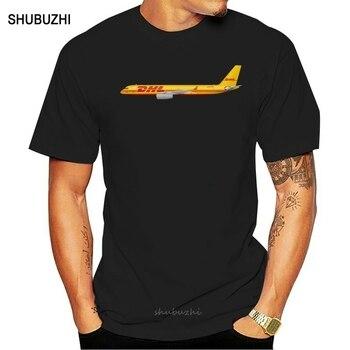 DHL Aviation worldwide Logo czarny lub biały T Shirt męska koszulka S-3XL mężczyźni bawełniana koszulka letnia marka teeshirt euro rozmiar