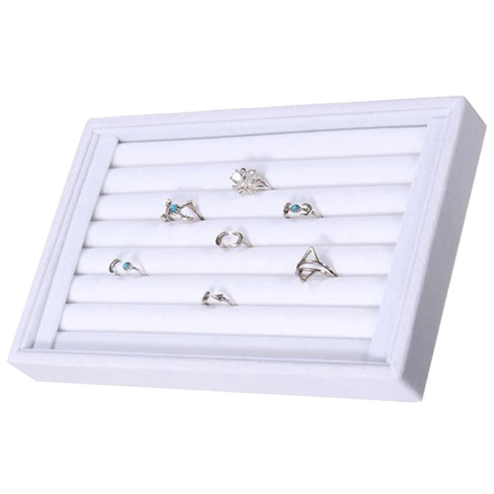 Pendientes de anillo organizador pendientes de oreja soporte de exhibición bandeja caja brazalete anillos para mujer hombres oreja broche almacenamiento