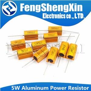 RX24 5W aluminiowa obudowa przypadku rezystor drutowy 0.1 ~ 100K 0.33 0.5 1 2 5 6 8 10 20 30 50 100 120 200 300 1K 5K 10K ohm