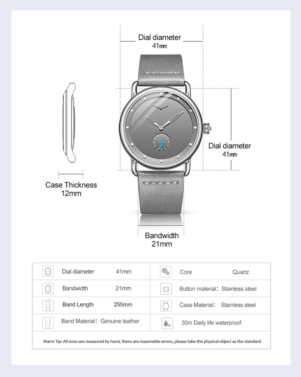 H0df2566aed4a495a88608033c661477fU ONOLA top brand leather men watches clock fashion sport simple casual waterproof Wrist watch men relogio masculino