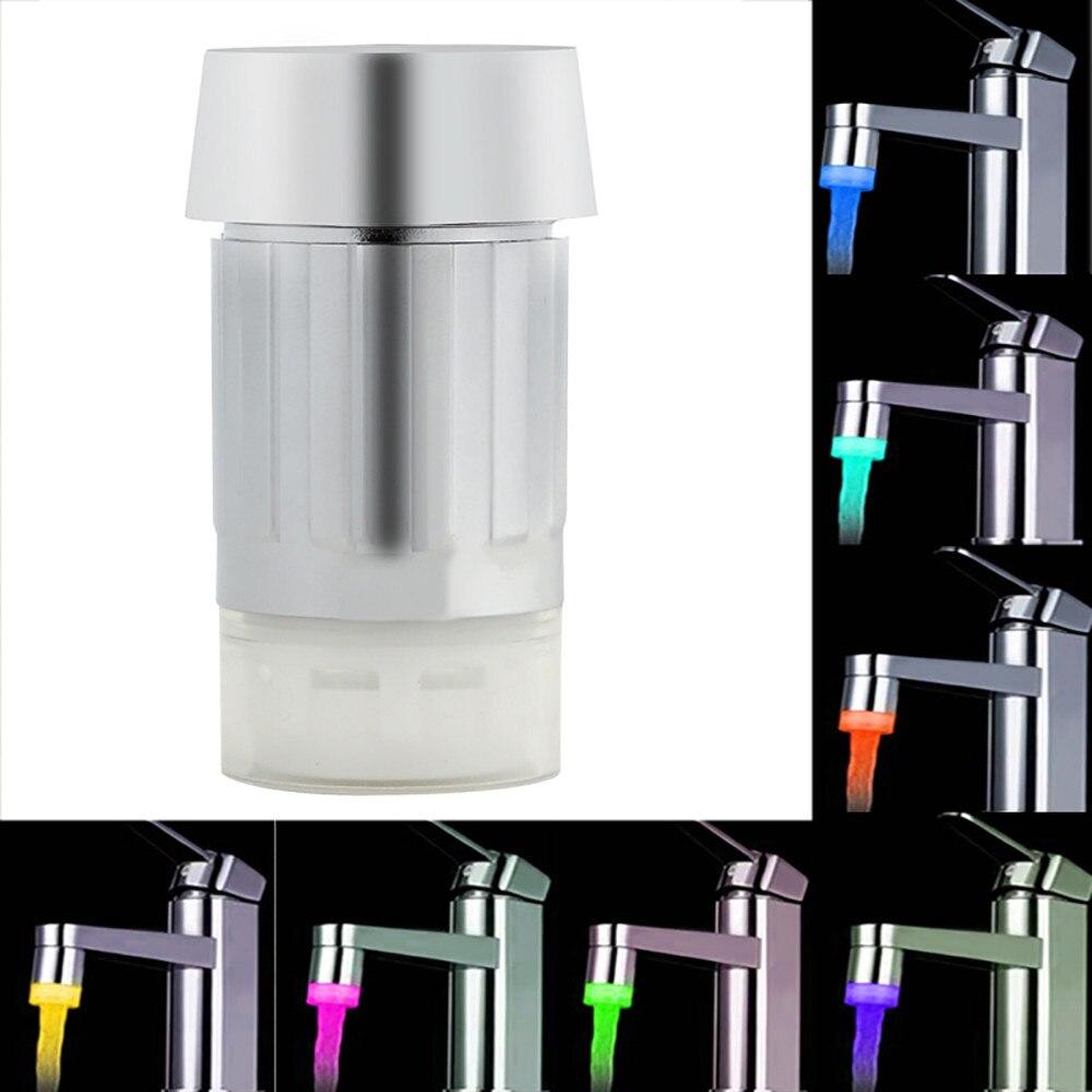 Led Splash-proof Faucet Water Tap Hydroelectric Power Temperature Sensor Led Light Faucet  Nozzle Shower Head Water Tap Filter