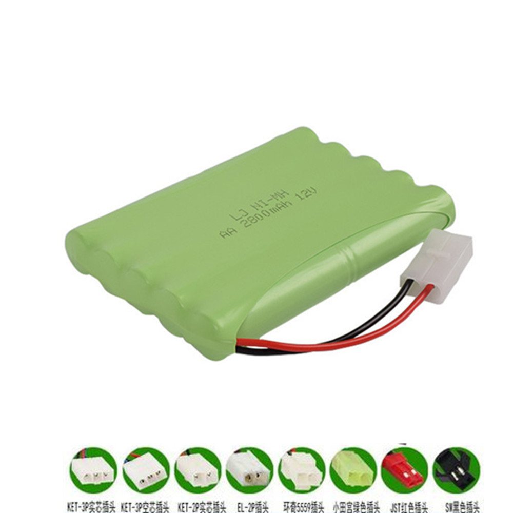 <font><b>12v</b></font> 2800mah NiMH <font><b>Battery</b></font> For Rc toy Car Boat Gun Tanks Trains Robot Ni-MH <font><b>AA</b></font> <font><b>12v</b></font> Rechargeable <font><b>Battery</b></font> <font><b>pack</b></font> 1pcs to 5pcs image