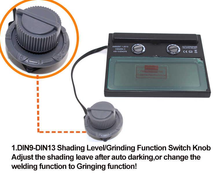 Auto Darkening/แรเงาบด/ภาษาโปลิชคำเชื่อม/เครื่องเชื่อมแว่นตา/หน้ากาก/หมวกสำหรับเครื่องเชื่อมหรือเครื่องตัดพลาสม่า