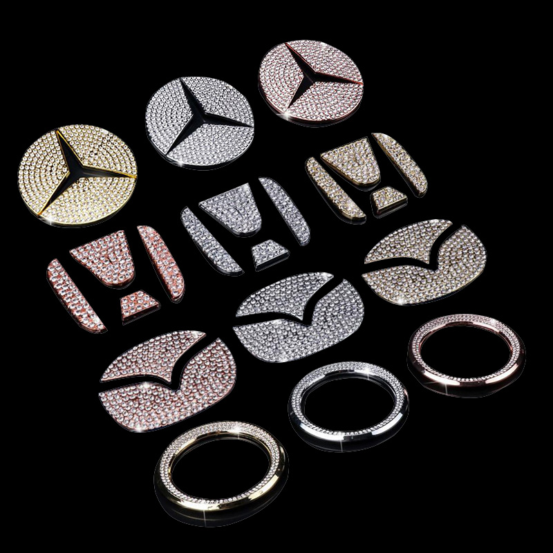 1pcs Suitable For A Variety Of Car Steering Wheel Decorative Stickers Steering Wheel Diamond Decorative Ring Car Decoration