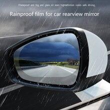 2 pçs universal adesivos de carro à prova de chuva filme auto vidro anti-nevoeiro filme espelho retrovisor proteção modificação carro produtos