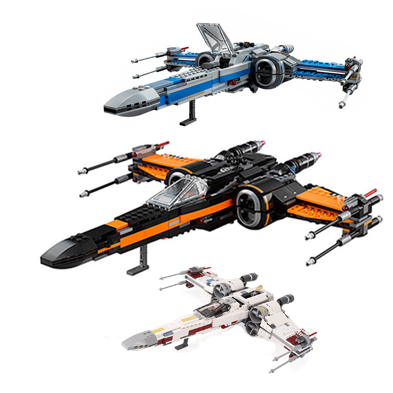 05145 05004 05029 Star fighter First Order Poe's X Wing Fighter Wars Building Blocks Bricks Compatible with Legoinglys