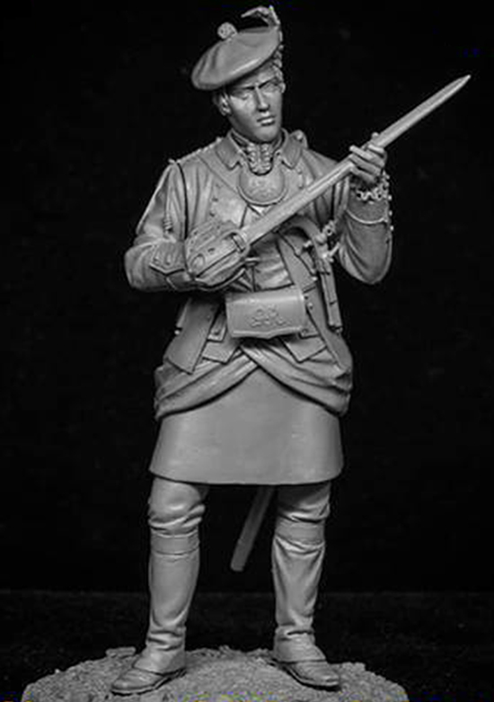 1/24 75mm   Ancient Officer  Stand With Sword   Resin Figure Model Kits Miniature Gk Unassembly Unpainted