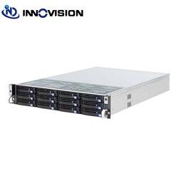2U 12 buchten hotswap rack server fall L = 560mm NVR NAS server chassis, unterstützung max 12*10,5 bord