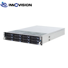2u 12 baías hotswap rack servidor caso l = 560mm nvr nas chassi do servidor, suportando max 12*10.5 placa(China)