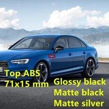 Oem abs emblema emblema carta acessórios do carro etiqueta para audi s linha s3 s4 s5 s6 s7 s8 a4l a6l q3 q5 q7 tt fender adesivos