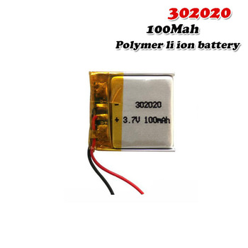 3 7V 100mAh 302020 litowo-polimerowy akumulator litowo-jonowy do zabawek tachograf głośnikowy MP3 MP4 GPS Bluetooth Lipo cell tanie i dobre opinie EASTFIRE CN (pochodzenie) Tylko baterie 20*20*3mm 3 7~4 2V Lithium Polymer Battery lipo battery 3 7V Rechargeable Battery