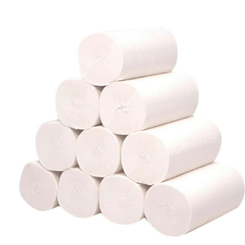 10rolls 4-Layer Soft Roll Toilet Paper Pulp Home Hotel Rolling Paper Strong Water Absorption Top Quality