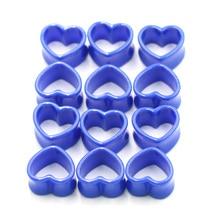 1Pc Blue Love Heart Acrylic Flesh Tunnel Plug Jewelry Body Piercing Stretcher Expander Ear Gauge Earlets