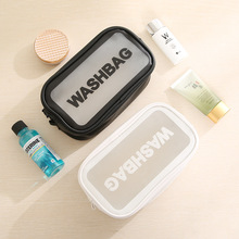 Waterproof Pvc Transparent Portable Finishing Square Bag Travel Storage Wash Cosmetic Clutch Makeup