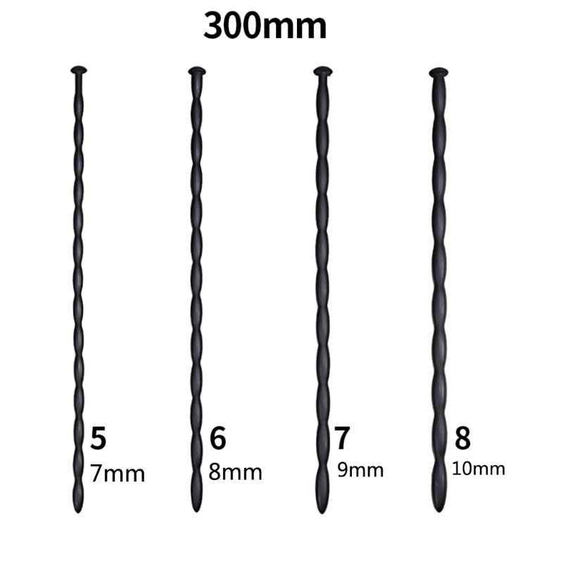 3 4 5 6 7 8 9 10mm סיליקון חרוזים קול השופכה הולו תקע בדיקה צינור שתן מרחיב השופכה אוננות מוט