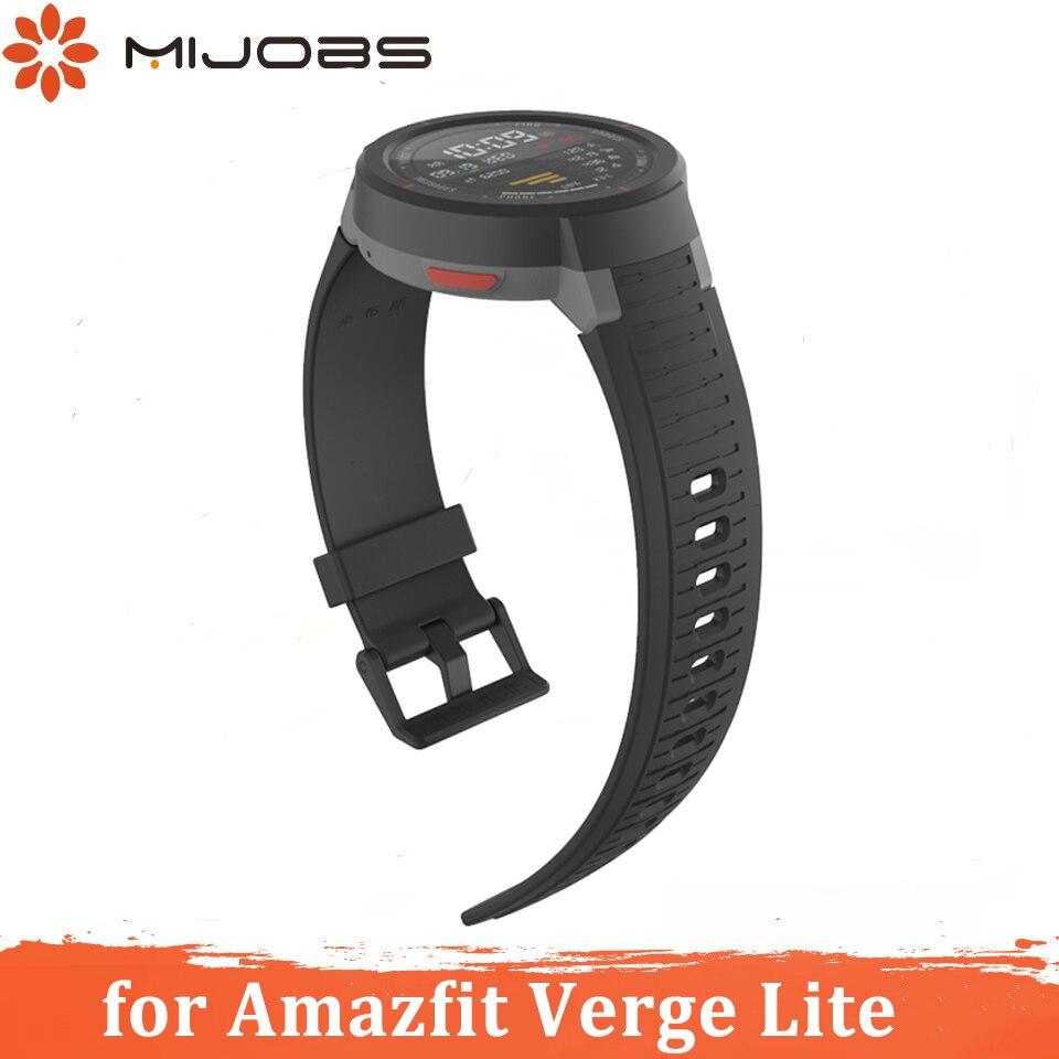 Silica Strap For Amazfit Verge Lite Strap Smart Watchband Soft Bracelet For Huami Xiaomi Amazfit Bip Wristband Strap Accessories