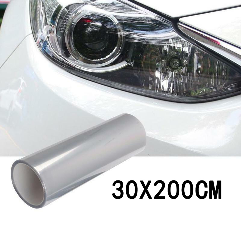 1 Roll Car Headlight Protective Film Bumper Hood Paint Protection Vinyl Wrap Scratch Resistant 95percent Transmittance 200 30cm