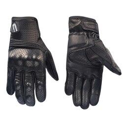 Willbros motocykl letnie rękawiczki zespół wyścigi oddychające siatki skórzane rękawiczki męskie czarny