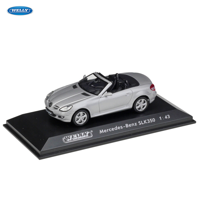 WELLY  1:43 SLK 350  Car Alloy Car Model Simulation Car Decoration Collection Gift Toy Die Casting Model Boy Toy