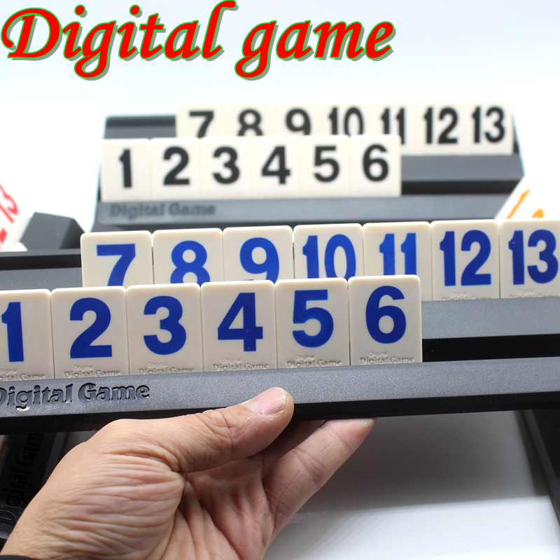 Big Size Rummikub Israel Mahjong Digital Board Game For 4 Players,106 Bricks,Size 2.6*3.8cm