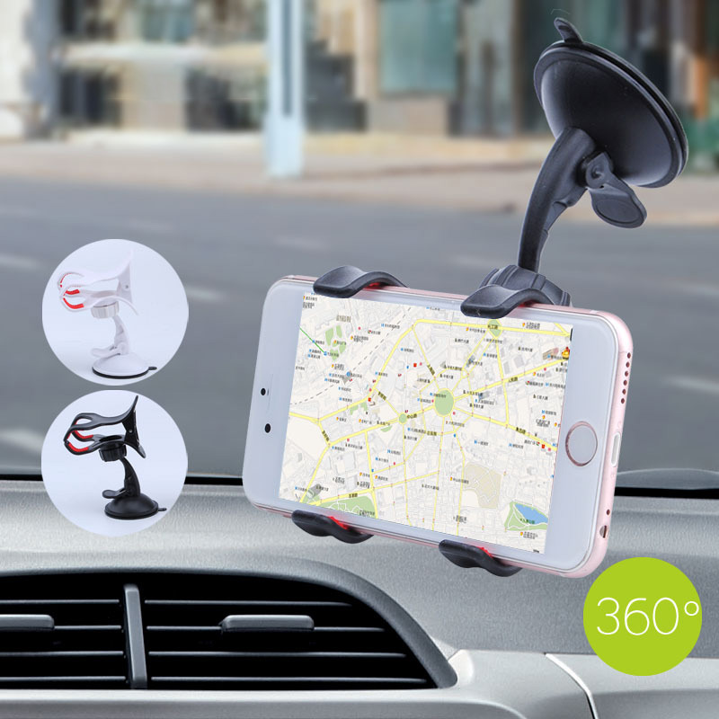 Car Navigation Mobile Phone Holder Suction Cup Automatic Lock Mobile Phone Holder 360 Degree Rotating Car Mobile Phone Holder